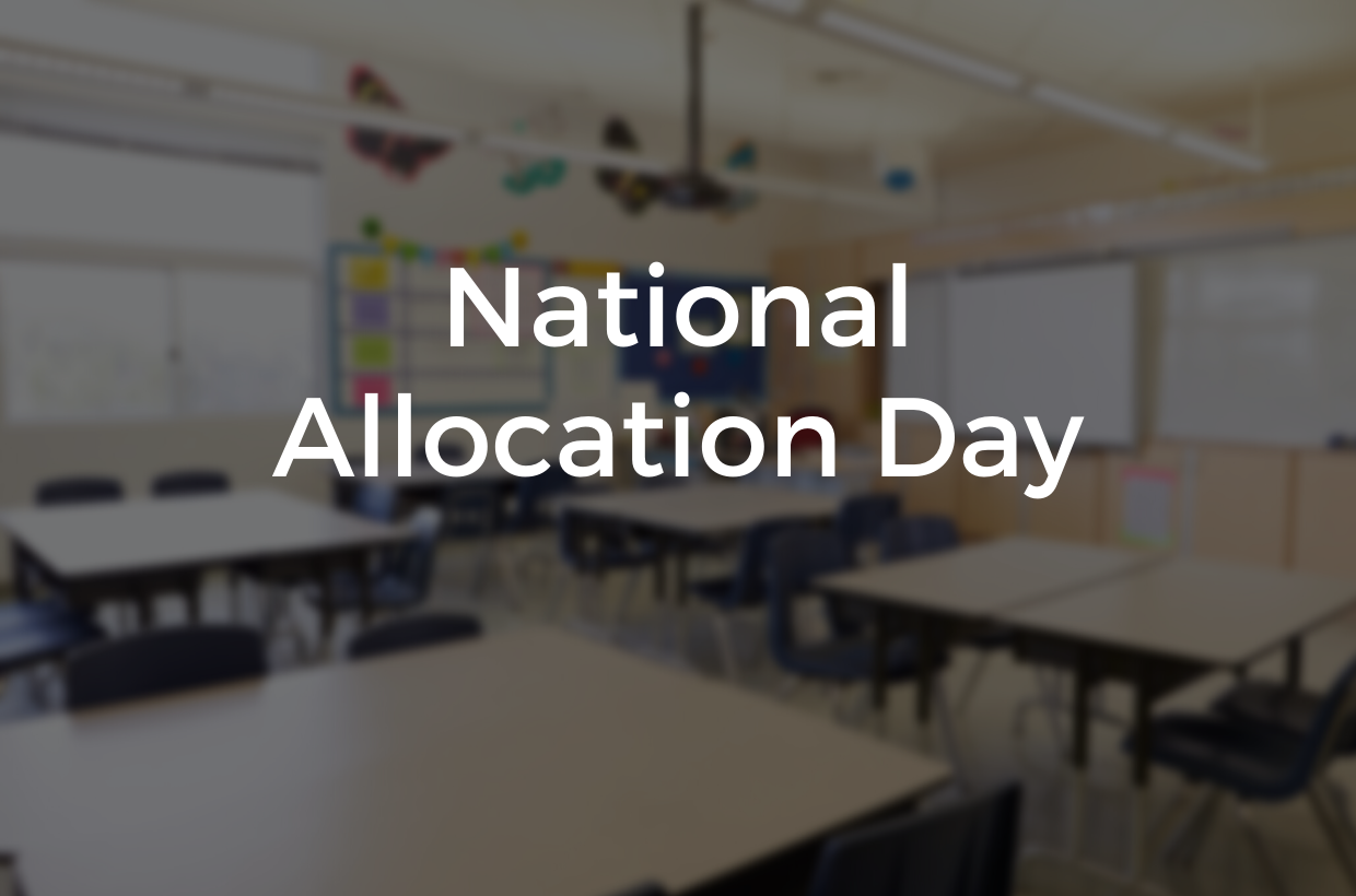 Welcome to Shaw! National Allocation Day 2020